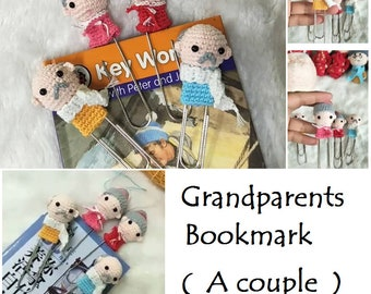 Crochet A finished Product [ Grandparents Bookmark ]