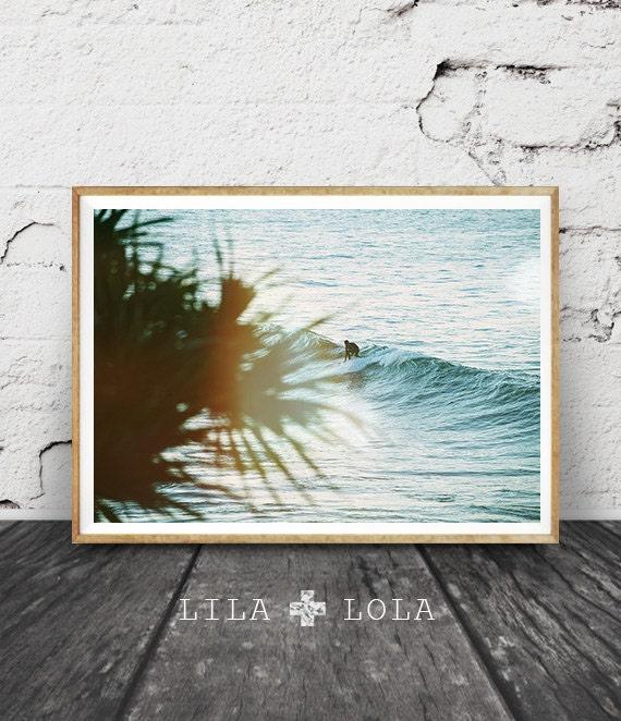 Surf Photography, Ocean Water Wall Art Print, Surfboard Decor, Coastal Beach, Large Printable Poster, Digital Download, Surfing, Waves