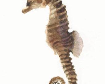 Seahorse Print, Seahorse Wall Art, Seahorse Watercolor, Seahorse Painting, Beach Decor, Beach Art, Coastal Decor, Seashore Decor Coastal Art