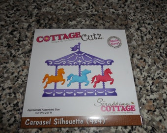 Cottage Cutz, Carousel Silhouette, 4x4