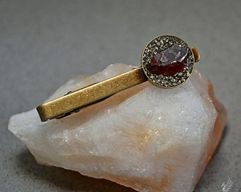 January birthstone jewelry for men - Garnet Jewelry - Fathers Day gifts - Wedding Tie Clip for Groom - Tie Clip for Groom - Custom jewelry