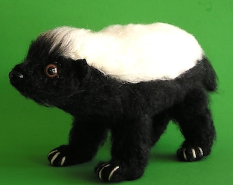 PDF CROCHET PATTERN Baby Honey Badger (English only)