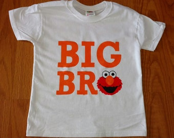 Elmo Big Brother Design! Available on Bodysuits or T-Shirts