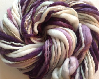 Hand spun  merino yarn Thick and Thin super bulky 84yards 3.75ozs