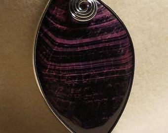 Dragon Veins Agate Purple and Black Pendant