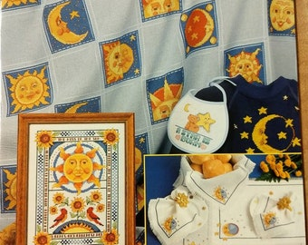 Vintage celestial cross stitch pattern