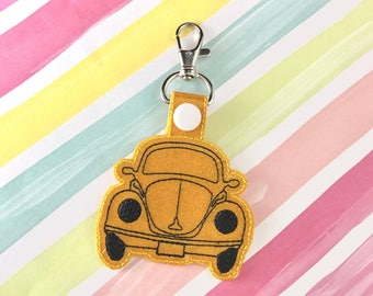 Car Bug Volkswagen Snap Tab Embroidery Digital File Instant Download key fob, machine embroidery design, in the hoop