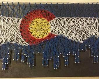 Colorado Skyline String Art