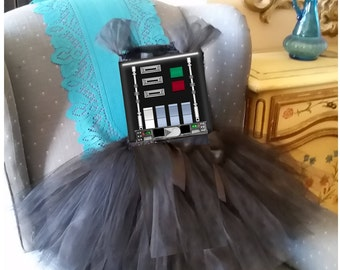 Birthday Darth Vader Star Wars Costume Girl Tutu Dress Outfit Halloween