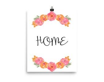 Flower Home Print