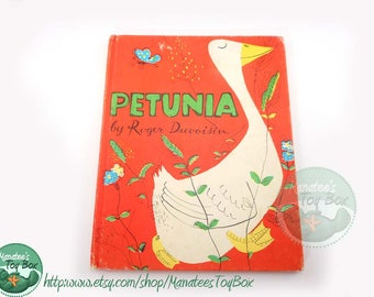 Petunia 1950s Childrens Book by Roger Duvoisin Hardcover