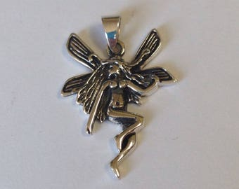Beautiful Sterling Silver Fairy Pendant Charm