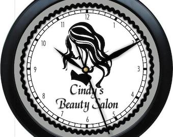 "Hair Salon 10"" Personalized Wall Clock Beauty Salon Hair Stylist"
