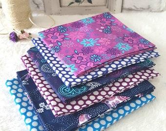6 Piece Fat Quarter Bundle - Polka Dot & Paisley Design  - Fat Quarter Bundle - Craft Supplies and Tools - Fabric Packs