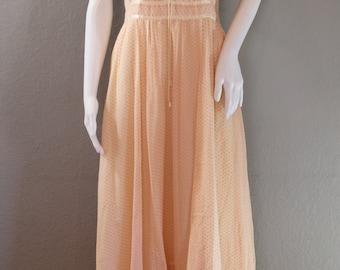 70s Gunne Sax Dress/pink, sleeveless, boho, prairie, maxi dress, hippie