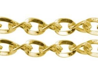 1 m x chain links Twist 5x4mm DORE
