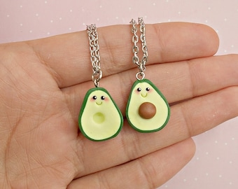 Avocado Friendship Necklace Set for 2 - BFF Best Friends Necklace - Avocado Necklace - Friendship Gift