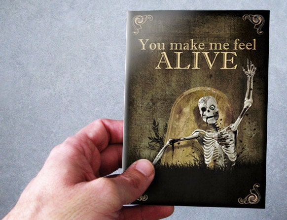 Greeting cardsskullskeletongothici love you description spice up your greetings cards m4hsunfo