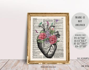 Anatomical Heart, Anatomy Poster Gift, Heart Anatomy Print, Anatomy Print Gift, Nurse Appreciation, Gifts for Doctors
