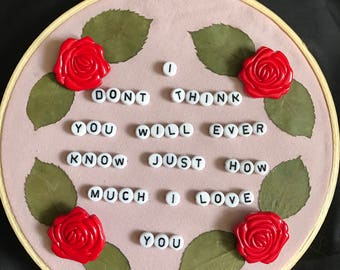 How Much I Love You Mixed Media