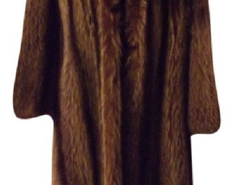 Vintage Raccoon Fur Coat, Full Length