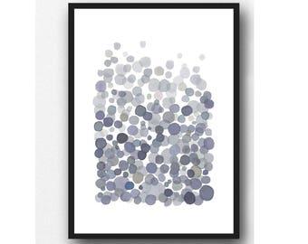 Modern Minimalist Art,  Abstract Art gray,  minimal painting, gray watercolor painting, Abstract watercolor painting gray, Watercolor print