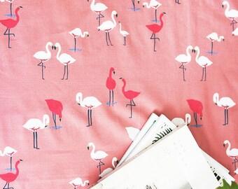 Flamingo Dance ,Cotton 100% fabric, by Yard
