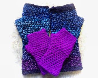 KIDS CUSTOM Color The Original MarpleMade MID Length : Handmade Crochet Fingerless Gloves Wrist Warmer