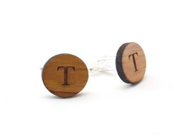 Custom Cufflinks Personalized Cufflinks Engraved Wooden Cufflinks