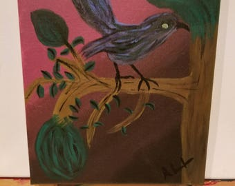 A Singing Blue Bird