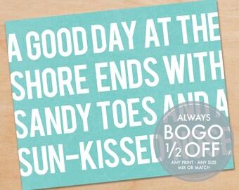 Jersey Shore Print, Ocean Print, Ocean art, Beach Art, New Jersey Poster, Ocean Decor, Beach Decor, Beach House, Home Decor