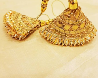 Indian Tassels/ Gold Tassels  / Gota Tassels ( Price of a pair)