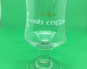 Set of 6 Vintage Irish Coffee glasses, Irish Coffee, Irish Whiskey, St Patrick's Day, Shamrock, Luck of the Irish, Slainte, Irish Toast
