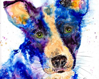 Dog art print: nursery animal art nursery decor nursery art dog art dog artwork dog gift dog art decor dog lover gift ellen brenneman art