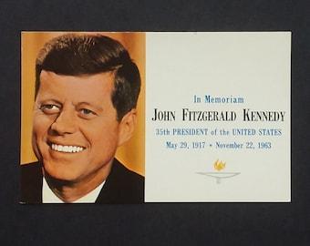 JFK Postcard In Memoriam John F. Kennedy