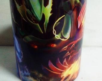 Pokemon Fan Art Mug Cup Taza Kyogre Rayquaza, Groudon