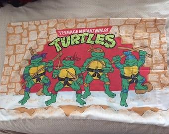 Vintage Teenage Mutant Ninja Turtles TMNT Pillowcase 1988