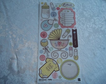"""Baby Cardstock Stickers by Basic Grey  5.5"""" x 12"""" Sheet"""