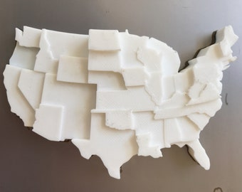 3D Printed Map | Infographic Fridge Magnet | Price of Weed Data Visualization