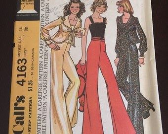 Vintage 1970's McCall's pattern size 16 bust 38.