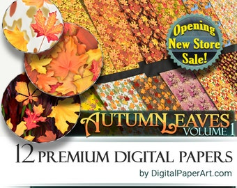 SALE Fall Digital Paper pack Vol1 Fall scrapbooking paper Fall Printable paper Commercial Use Fall wrapping Instant Download Fall background