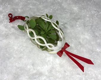 vintage plastic mistletoe ornament