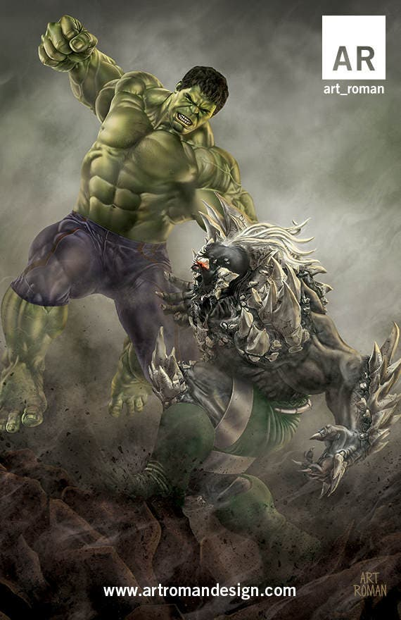 Hulk vs Doomsday 11x17Doomsday Vs Hulk
