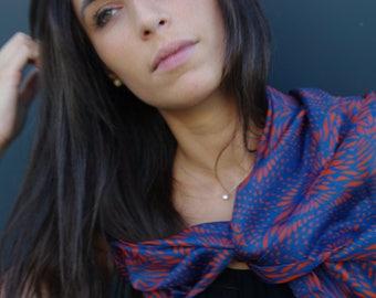 Silk scarf Mascari