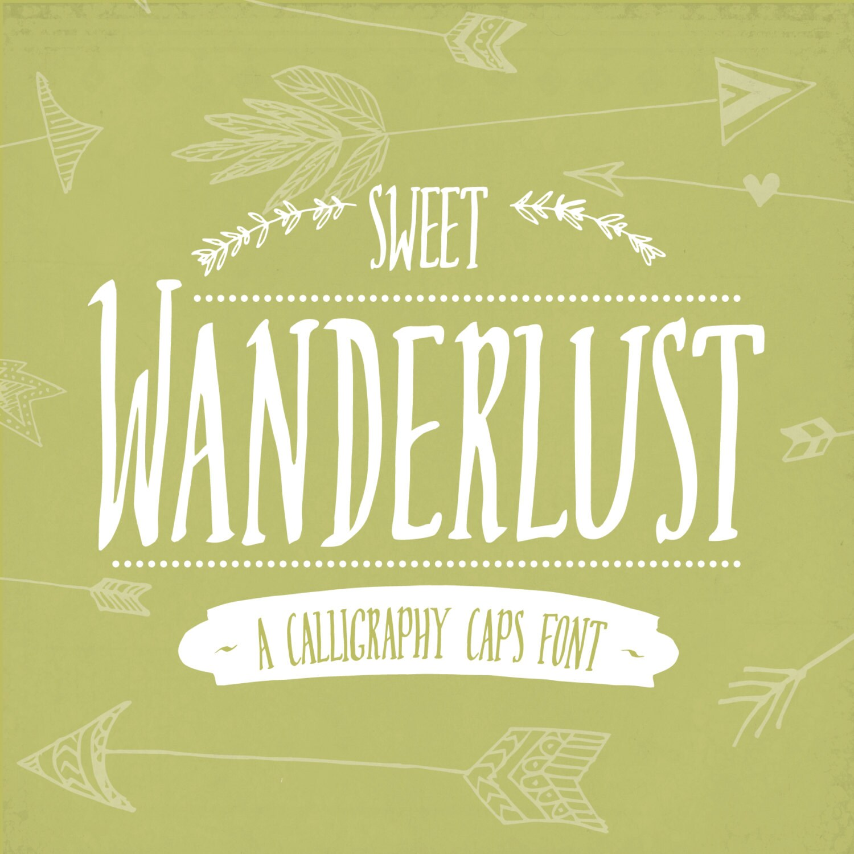 Digital Font Download Sweet Wanderlust //