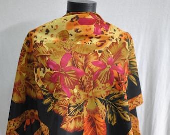 Vintage EXOTIC flowers scarf.....