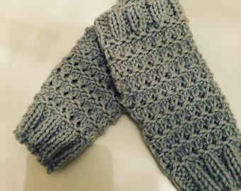 Fingerless Mittens Knitting Pattern - Granite