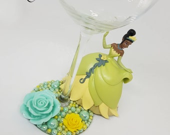 Personalised Disney The Princess and The Frog Wine Glass