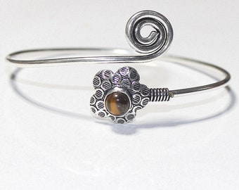 Lavish Tiger Eye 925 Silver Bangle