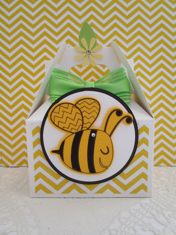 Bumble Bee Favor Boxes Party Favors Birthday